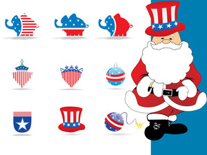 Vector Icons In Us Flag Color
