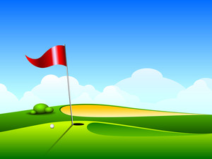 Vector Iilustration Of Golf Ground