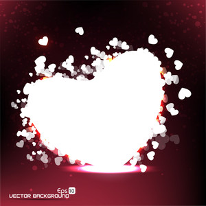 Vector Illustration A Heart On Abstract Background Eps10.
