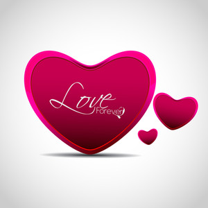 Vector Illustration A Lovely Heart With Pink Color.