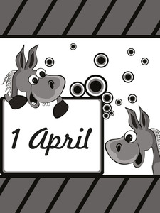 Vector Illustration For Fools Day Celebration