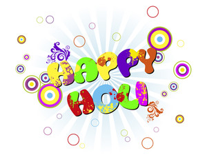 Vector Illustration For Happy Holi Celebration