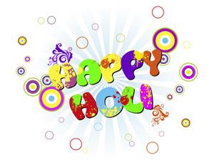 Vector Illustration For Happy Holi Celebration