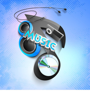 Vector Illustration For Musical Theme With Speakers On Abstact Colorful Design Can Be Use As A Banner Or Flyer In Disco And Party
