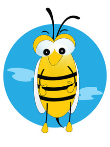 Vector Illustration Honeybee