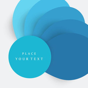 Vector Illustration In Blue With Space For Your Text