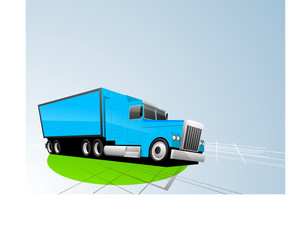 Vector Illustration Of A Green Transportation Classic Truck Or Loader Jeep
