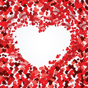 Vector Illustration Of A Heart Shapes Background For Valentines Day And Other Occasions.