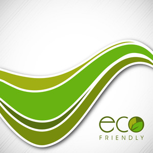 Vector Illustration Of A Nature And Wave Background With Eco Friendly Text
