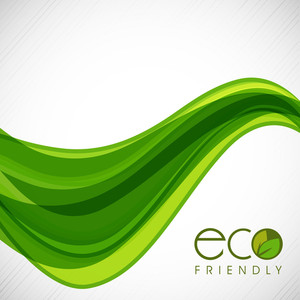 Vector Illustration Of A Nature And Wave Background With Text  Eco Friendly