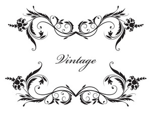 Vector Illustration Of A Vintage Floral Frame