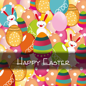 Vector Illustration Of An Easter Background.