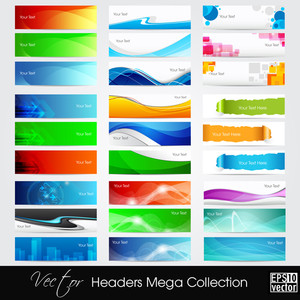 Vektor-Illustration Banner oder Website-Header mit abstrakten