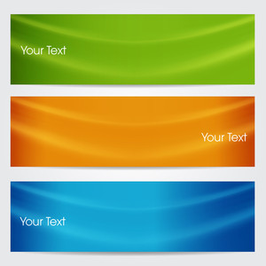Vector Illustration Of Banners Or Website Headers With Green