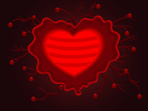 Vector Illustration Of Beautiful Decorative Heart Shape.