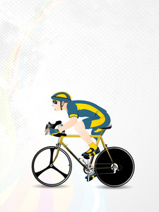 Vector Illustration Of Bmx Or Mountain Or Track Cyclist