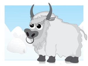 Vector Illustration Of Bull