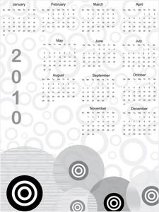 Vector Illustration Of Calender
