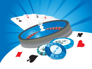 Vector Illustration Of Casino Background