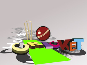 Vector Illustration Of Cricket Background