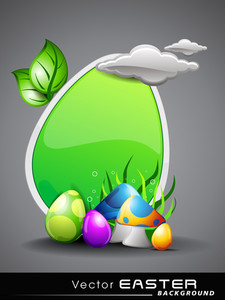Vector Illustration Of Easter Background.