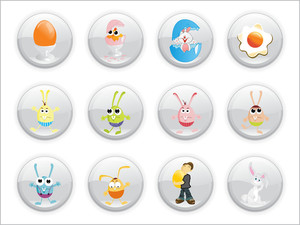 Vector Illustration Of Easter Icons