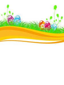 Vector Illustration Of Easter Letterhead
