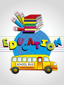 Vector Illustration Of Educational Background