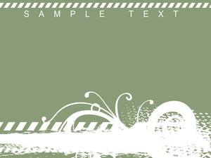 Vector Illustration Of Floral Themes On Green