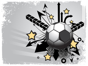 Vector Illustration Of Football