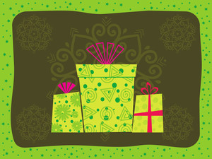 Vector Illustration Of Gift Bag With Background
