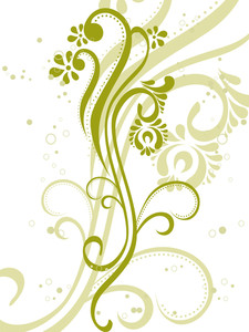 Vector Illustration Of Green Floral
