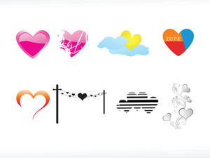 Vector Illustration Of Heart Icon Set4