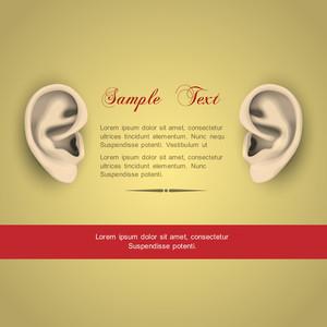 Vector Illustration Of Human Ears