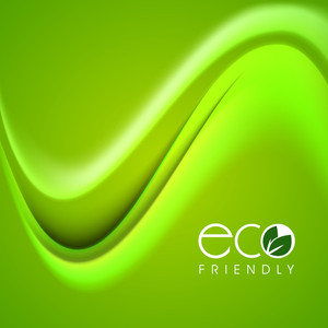 Vector Illustration Of Nature And Waves Background With Text Eco Friendly