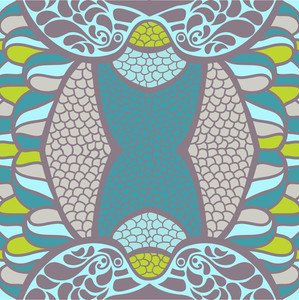 Vector Illustration Of Original Ornament. Psychedelic Abstract Texture.