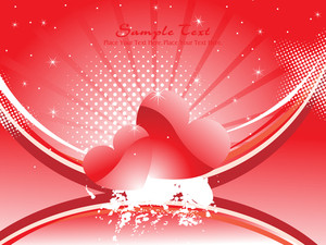 Vector Illustration Of Romantic Background