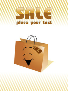 Vector Illustration Of Shopping Bag