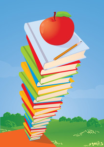 Vector Illustration. Stack Of Books,