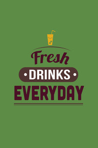 Vector Illustration With  And Drinks (editable Text)