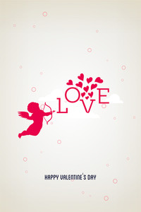 Vector Illustration With Angel Arrow Love Heart And  (editable Text)