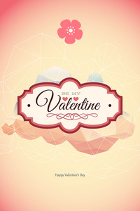 Vector Illustration With Badge And Flower (editable Text)