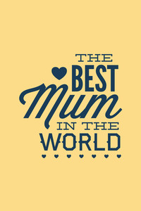 Vector Illustration With Best Mum And  (editable Text)