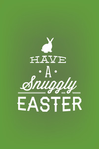 Vector Illustration With Bunny And  (editable Text)