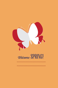 Vector Illustration With Butterfly And  (editable Text)