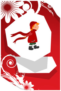 Vector Illustration With Child And Decorations (editable Text)