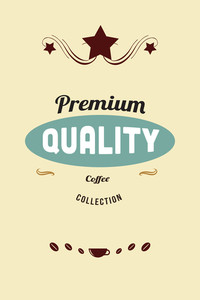 Vector Illustration With Coffee And Star (editable Text)