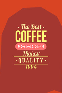 Vector Illustration With Coffee Shop And Drinks (editable Text)