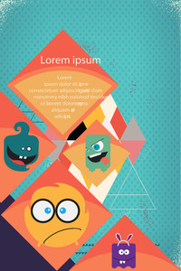 Vector Illustration With Conceptual And Layout (editable Text)