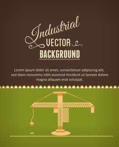 Vector Illustration With Construction Tool (editable Text)